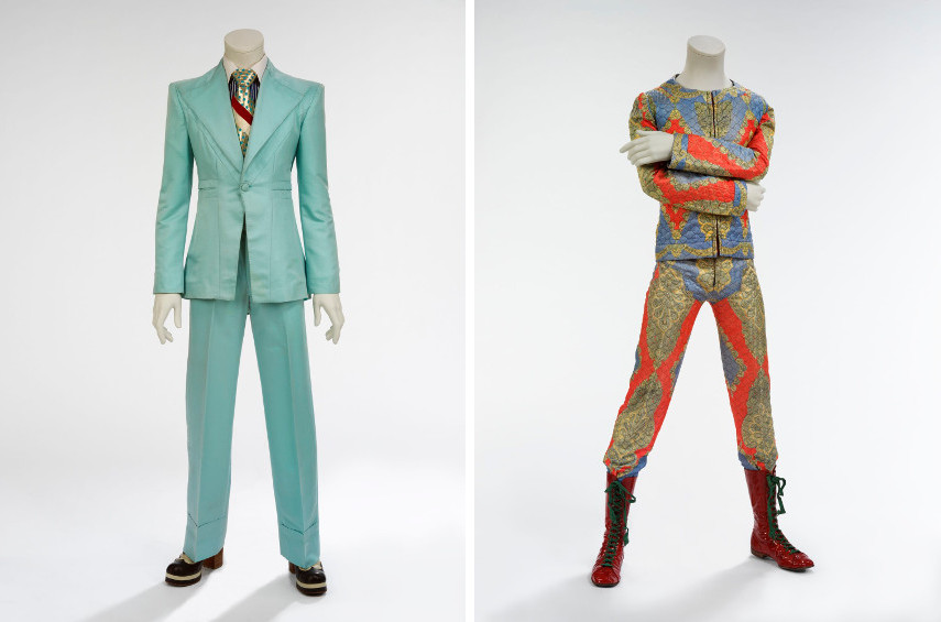Ice-blue suit, 1972 - Quilted two-piece suit, 1972