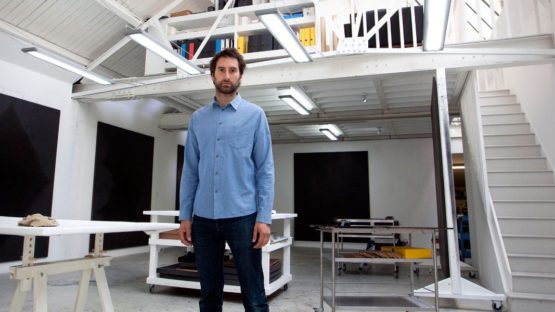 Idris Khan in his studio, photo credits - The Independent
