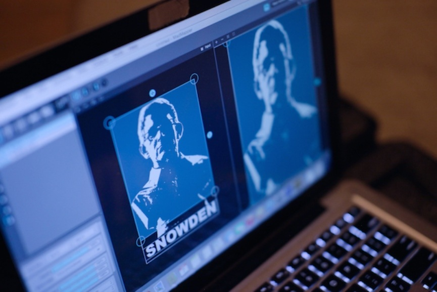 Snowden Sculpture Replaced by Hologram