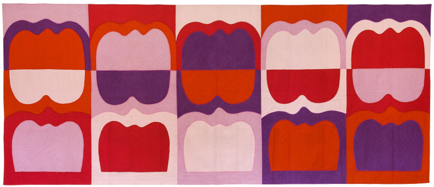Ilona Keserü - Wall-Hanging with Tombstone Forms (Tapestry), 1969