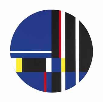 Ilya Bolotowsky-Tondo Vertical Horizontal-1976