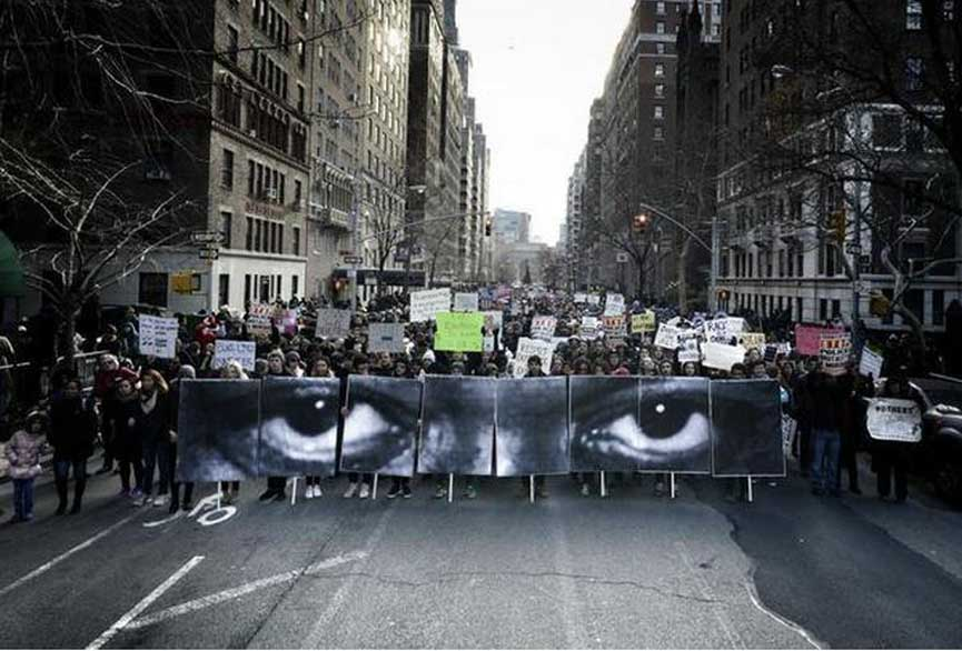 Millions March NYC, Image vis JRart on Twitter