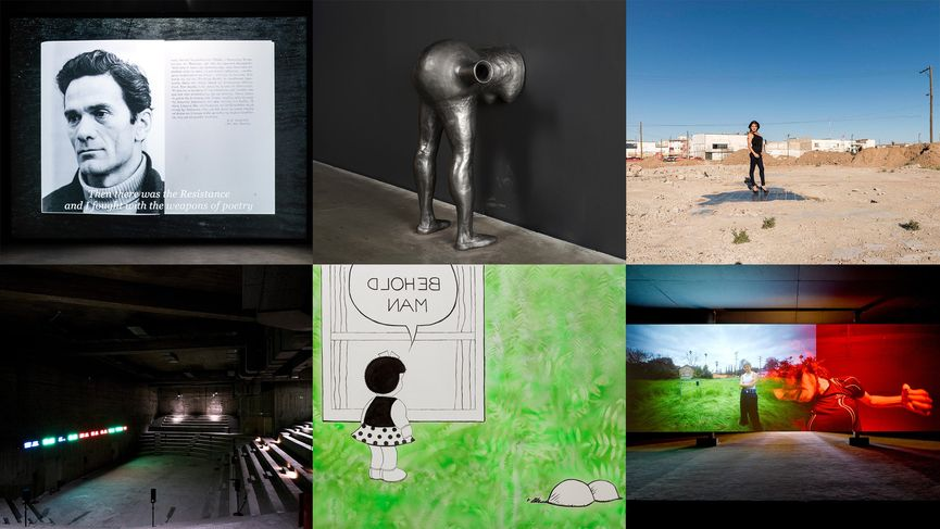 Images of artwork from the six Hugo Boss Prize 2018 nominees