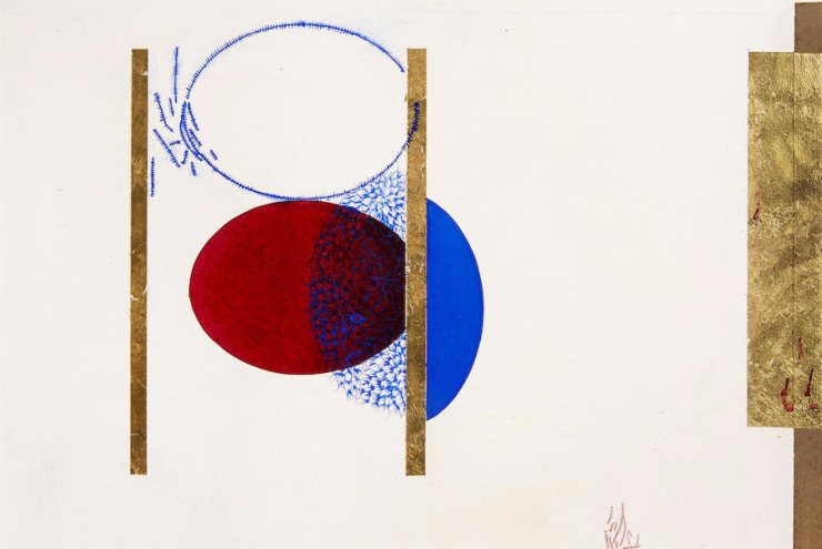 Imran Qureshi - Together (Lot 45). Estimated at $9,292-$12,389; sold for $ 23,230