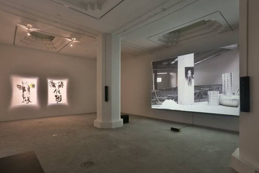 Inci Eviner, Installation View of Looping on Thin Ice at PearlLam Galleries