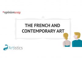 Infographics Artistics, a study of the relationship between the French and contemporary art
