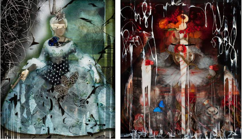 Ingrid Dee Magidson - Ethereal Visions - 2014 (Left) / Predestiny - 2013 (Right)