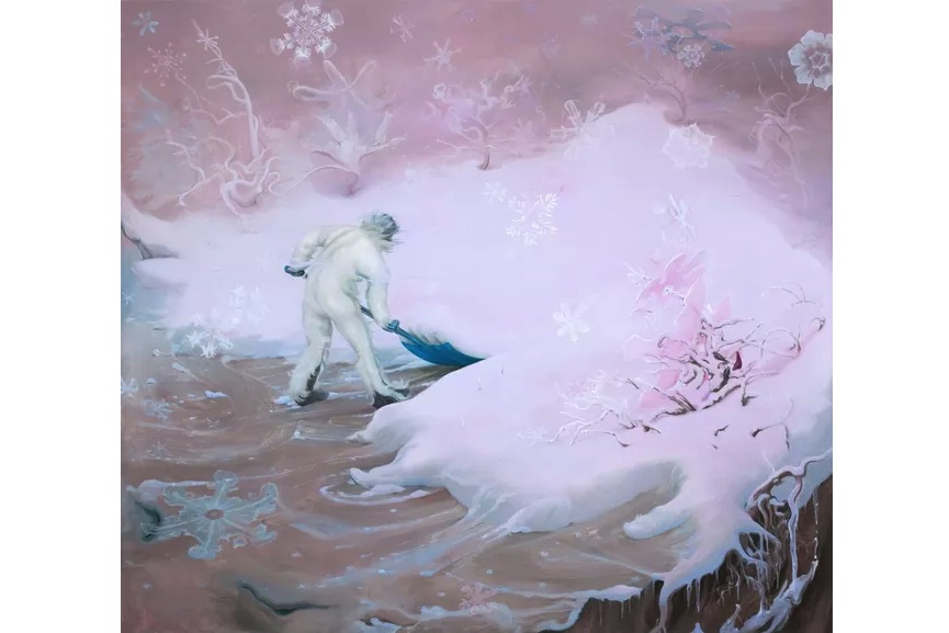 Inka Essenhigh - Snowflake (Pink), 2009