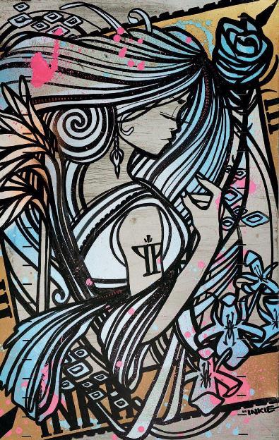 Inkie - Ink Nouveau, 2014 (99 x 63 cm)