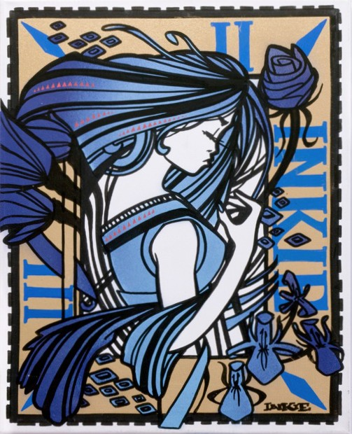 Inkie-Ink Nouveau Blue-