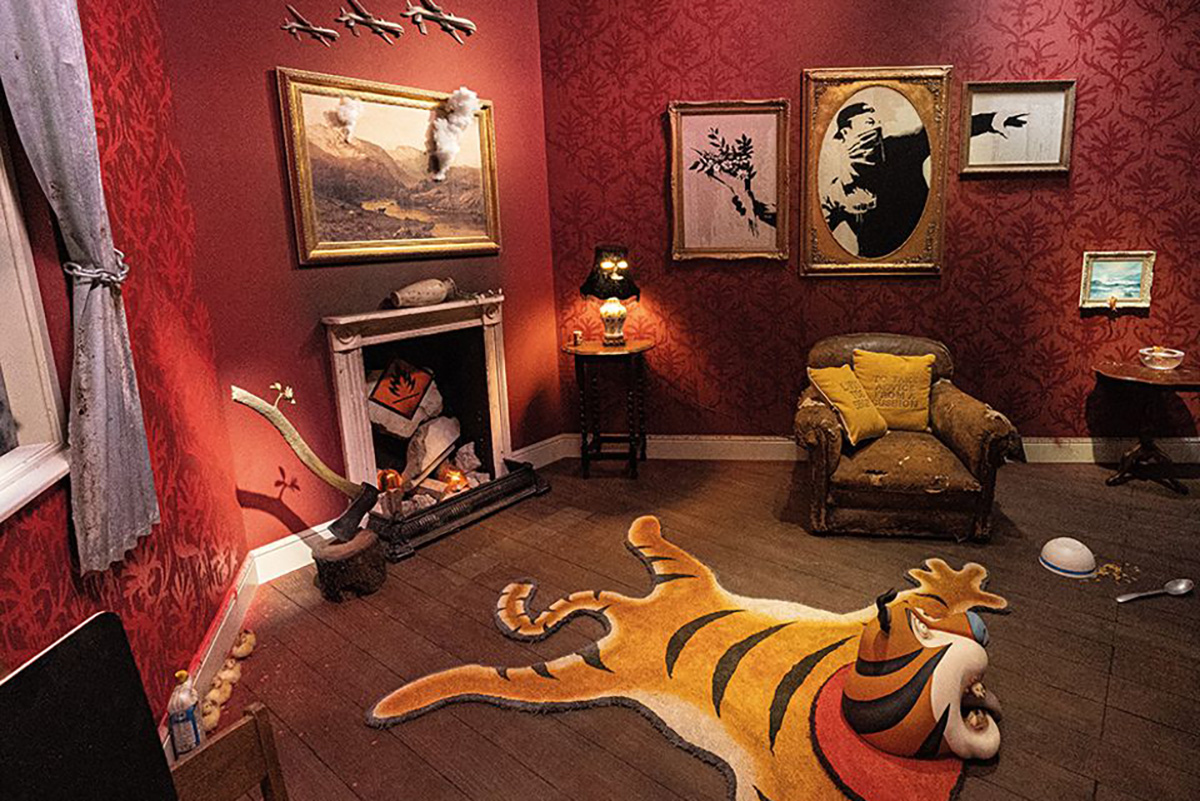 Interior of Banksy's London shop. Image courtesy of Banksy