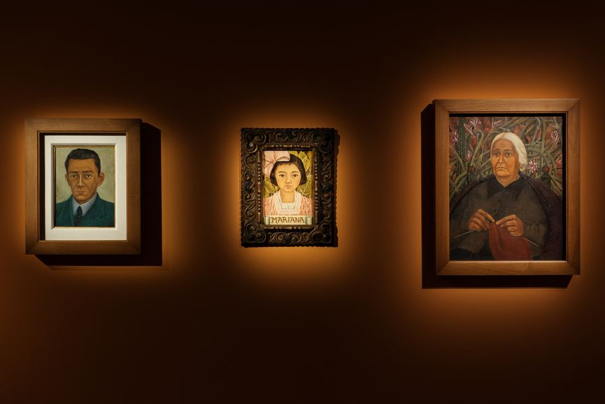 Installation View; kahlo self portrait that reflects her pain