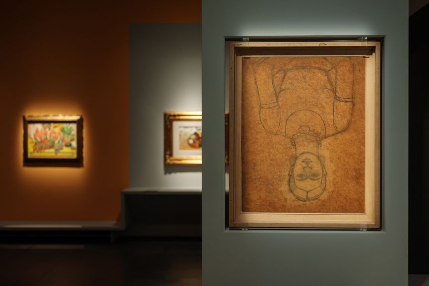 Installation View; kahlo self portrait