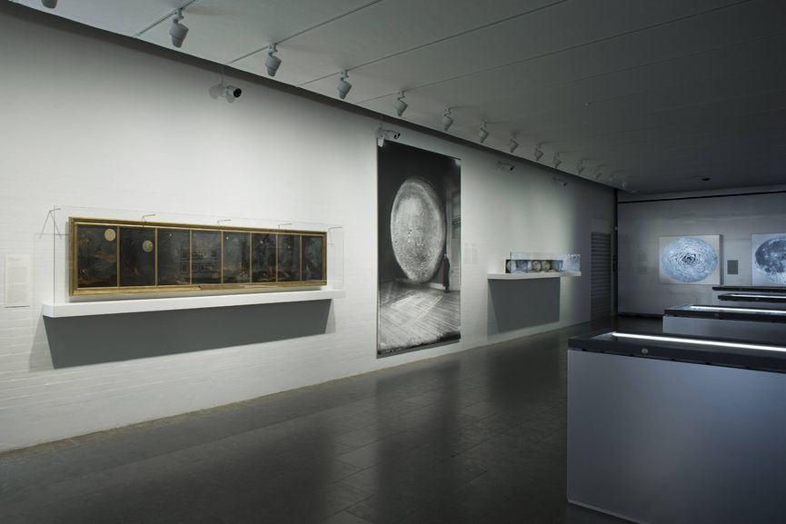 Installation View, print of a night illustration