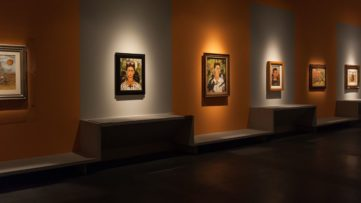 Frida Kahlo Installation View; kahlo portrait of her self