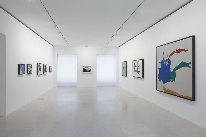 Installation View of Helen Frankenthaler After Absract Expressionism, 1959-1962 at Gagosian Paris