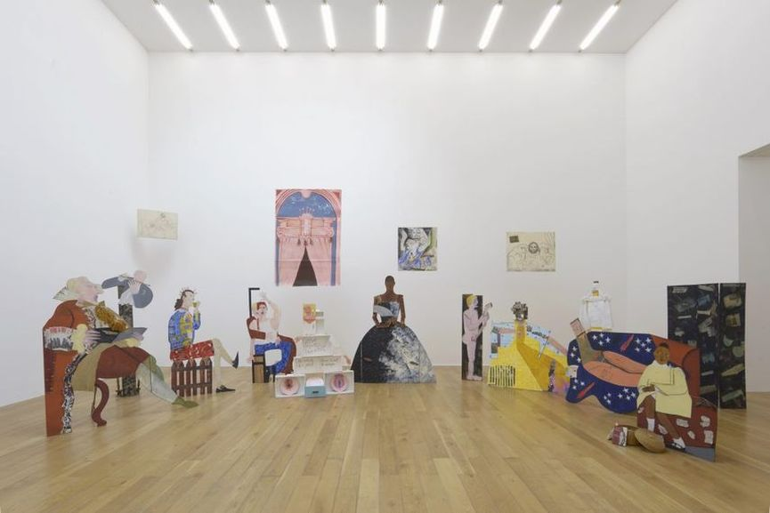 Installation View of The Place is Here by Lubaina Himid at Nottingham Contemporary