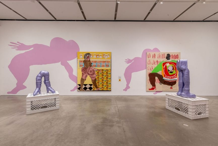 Installation View of Tschabalala Self- Out of Body at ICA Boston