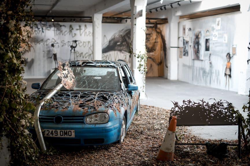 Installation by Dan Rawling, Moniker London 2018. Photo Sam Roberts