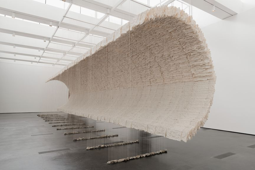 Installation photograph, Zhu Jinshi, Wave of Materials, 2007/2019