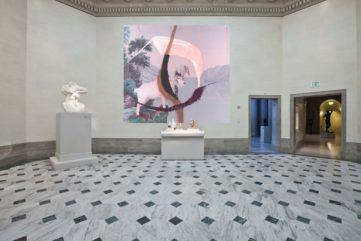 Julian Schnabel's Large Painting Occupy Legion of Honor's Open-Air Yard