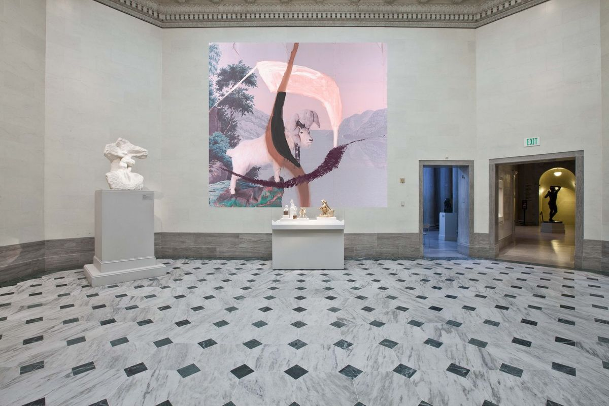 Installation proposal of Julian Schnabel - Symbols of Actual Life at the Legion of Honor