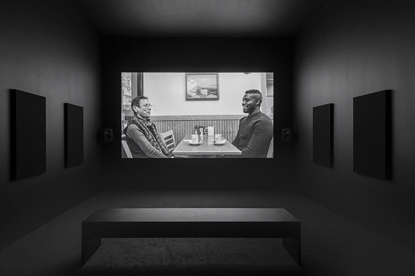 Installation view, Adam Pendleton Our Ideas, Pace Gallery, London 2018