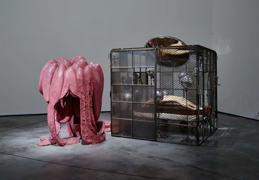 Installation view at Louise Bourgeois. Structures of Existence at Guggenheim Bilbao