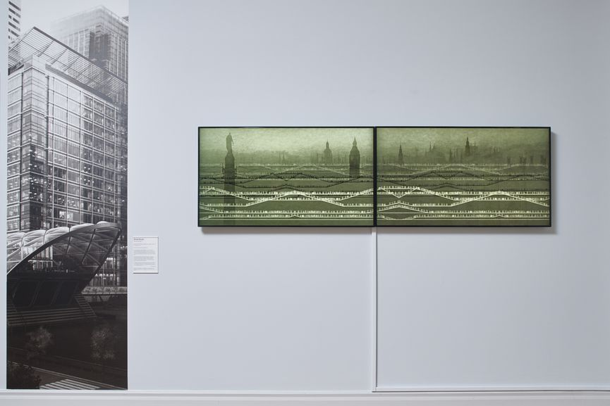 Installation view at the Whitechapel Gallery, Art Capital, Art for the Elizabeth line