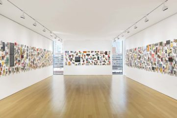 Installation view of Betty Tompkins, WOMEN Words, Phrases, and Stories at The FLAG Art Foundation, 2016. Photography by Genevieve Hanson, ArtEcho LLC