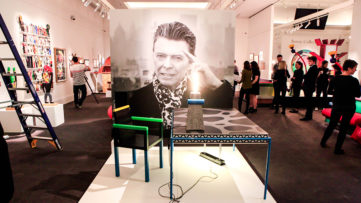 Installation view of Bowie-Collector at Sotheby's, London © Shayne Fergusson