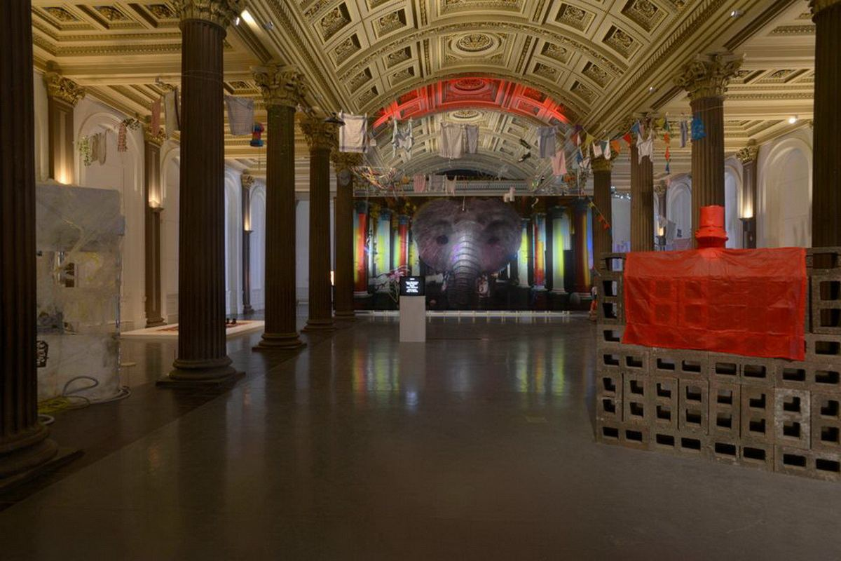 Installation view of Cellular Worlds at GoMA, Glasgow International Festival 2018