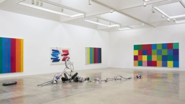 Installation view of Hank Willis Thomas at Kayne Griffin Corcoran, taking place during Frieze Los Angeles (Paramount Pictures Studio)