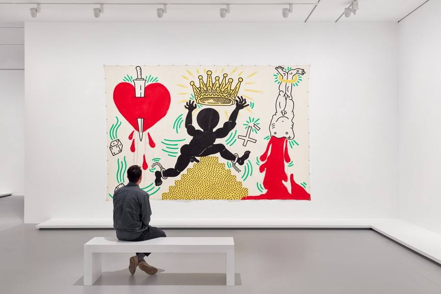 Installation view of Keith Haring's Prophets of Rage