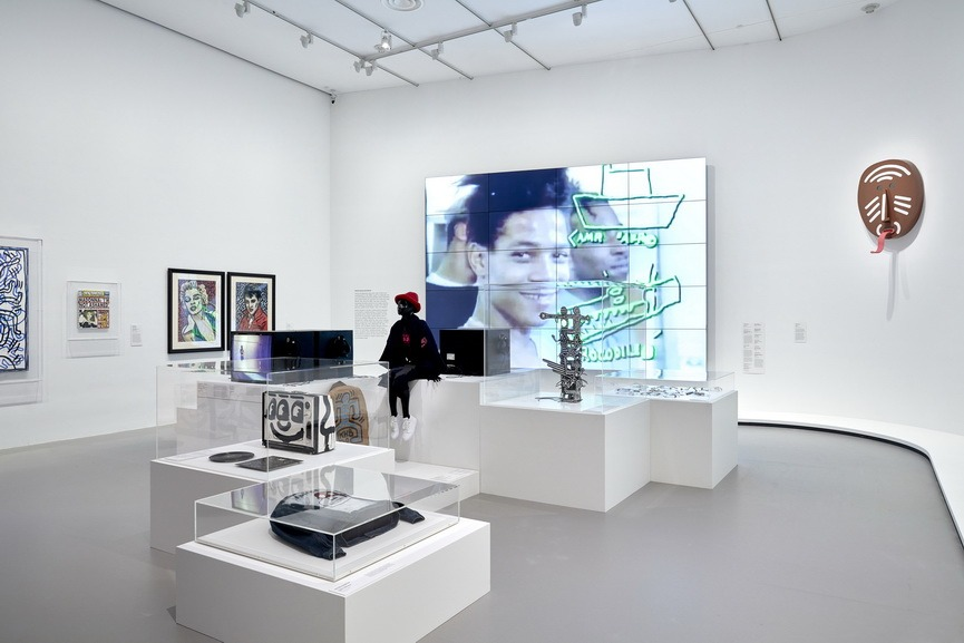 Installation view of Keith Haring Jean-Michel Basquiat
