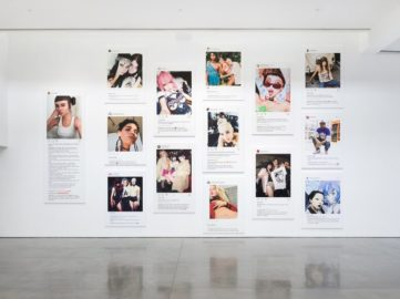 Installation view of Richard Prince at the Gagosian in Los Angeles