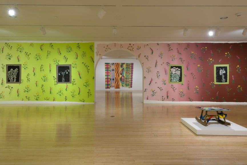 Installation view of With Pleasure- Pattern and Decoration in American Art 1972–1985 at MOCA Grand Avenue, taking place during Frieze Art Fair Week 2020 in Los Angeles