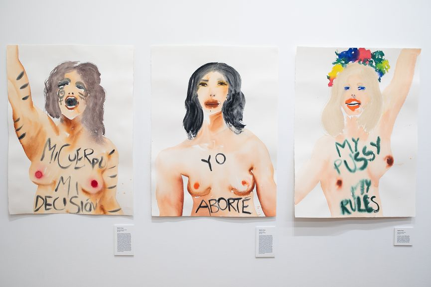 Abortion Is Normal, Installation view, work of Nadine Faraj