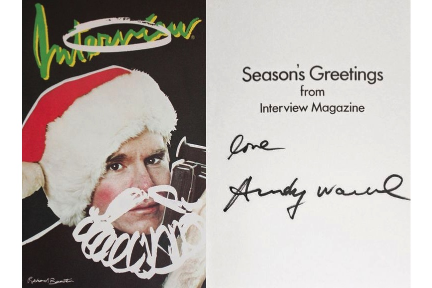 Interview Magazine Christmas Card, c.1980