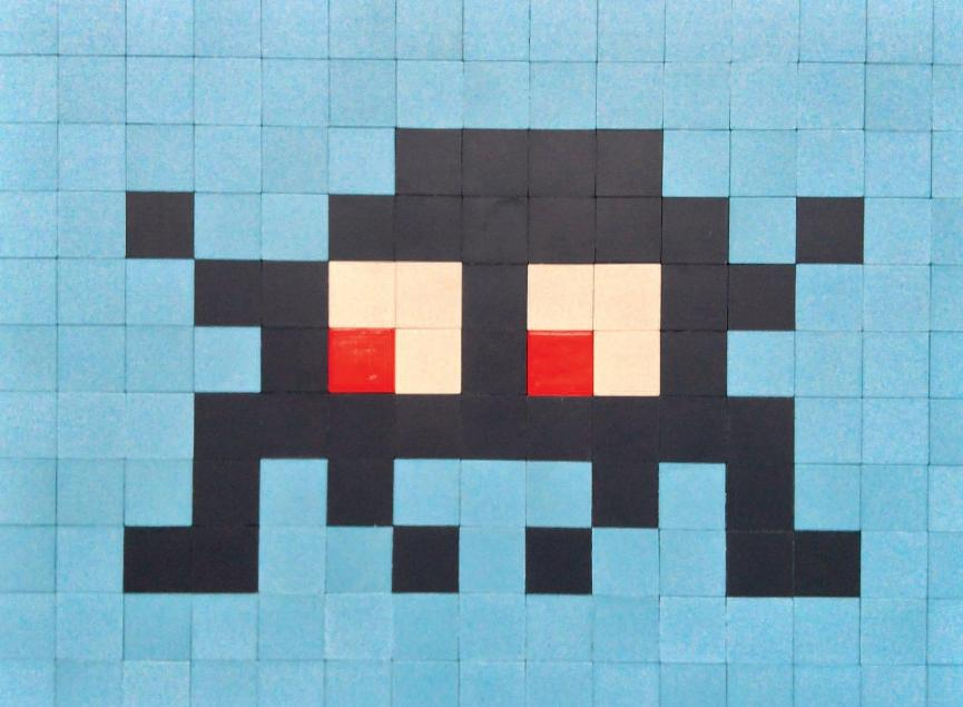 Invader - ALIAS PA_415, 2010 (22 x 30 cm)
