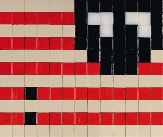 Invader-L.A. Flag No. 2-2004