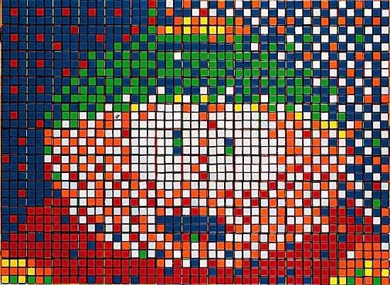 Invader-Rubik Little Cartman-2008