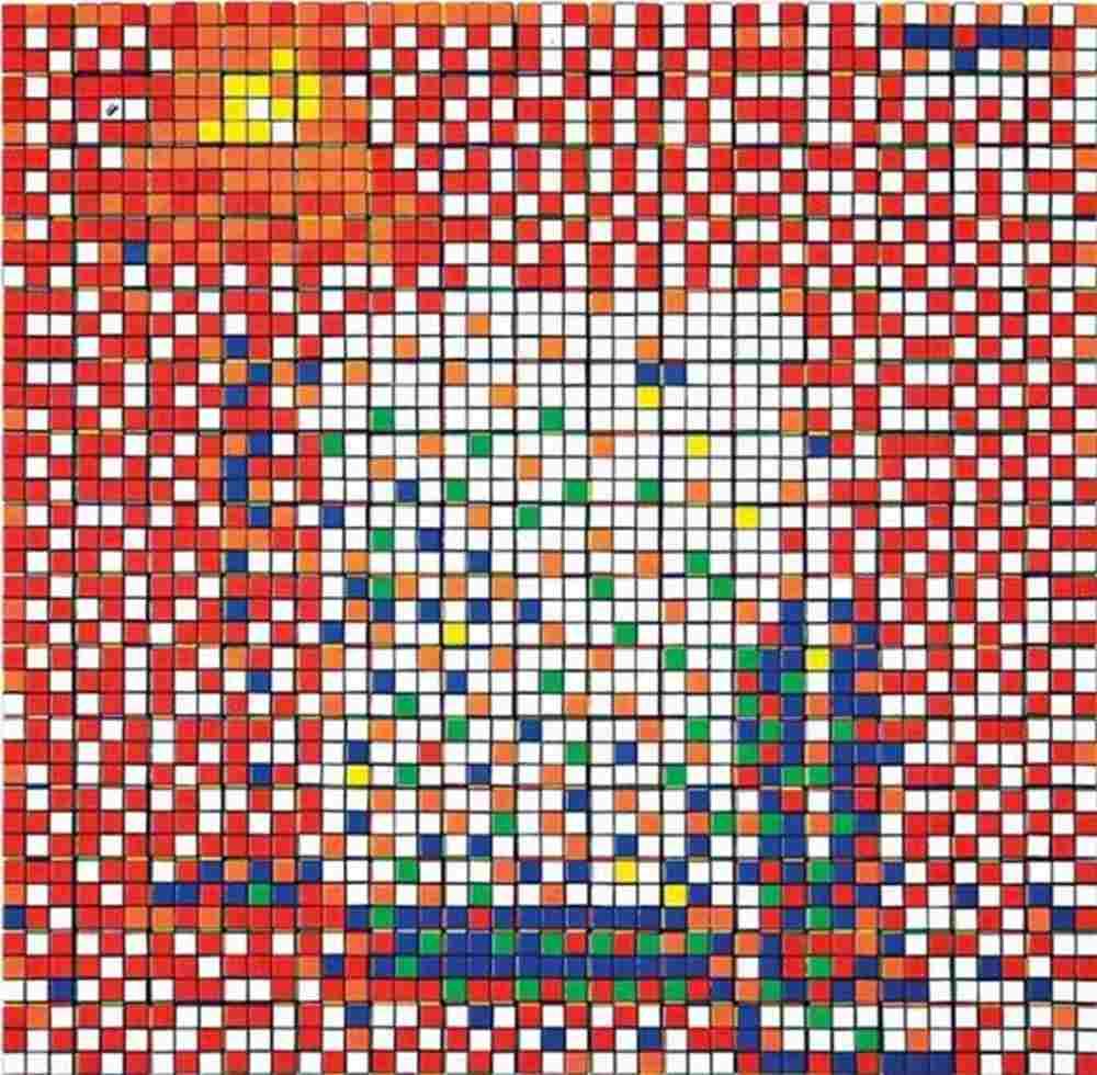 Invader-Rubik Three imaginary boys-2009