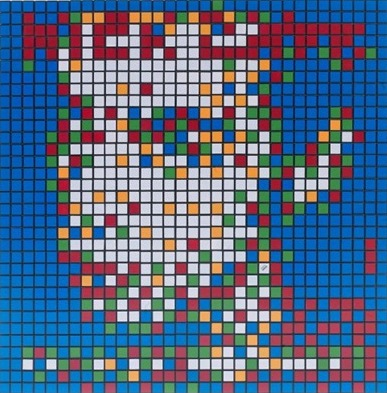 Invader-Rubik from Her To Eternity-2010