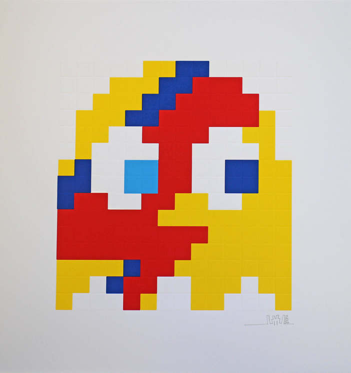 Invader-Yellow Aladdin Sane-