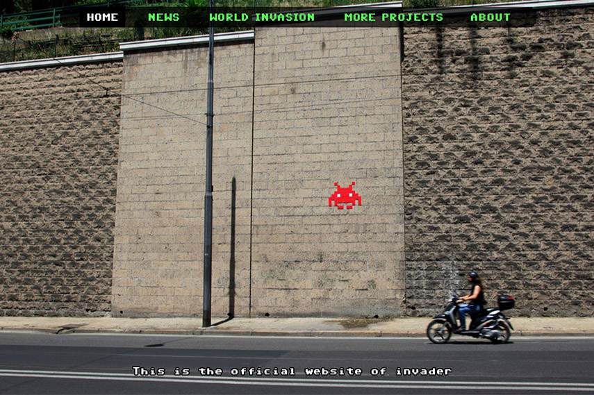 Invader website screenshot
