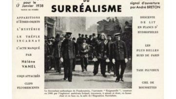 Invitation card for the Surrealist exhibition in Paris