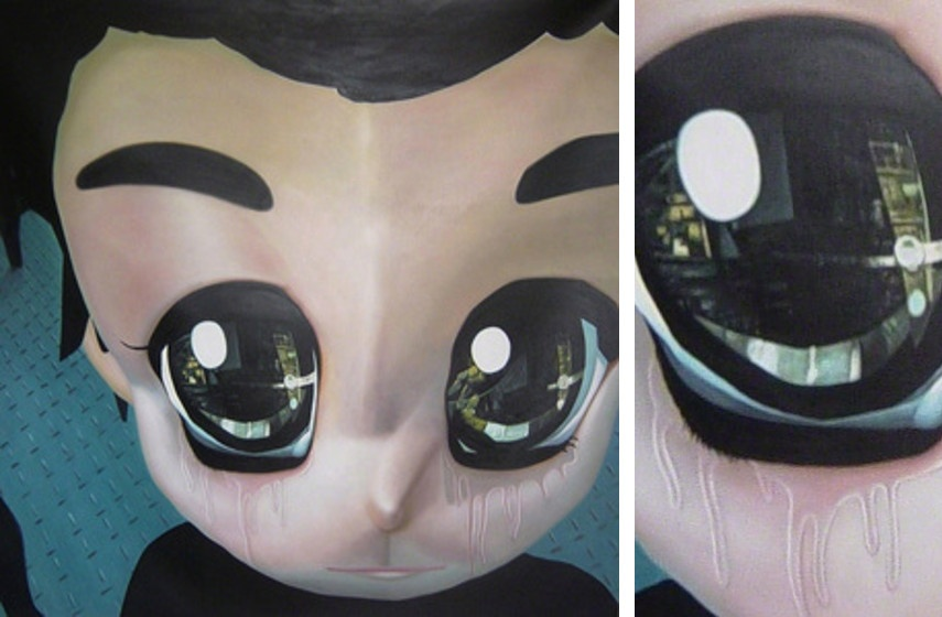 Ioam Yumako - Mad World, 2008 (Left) / Detail (Right)