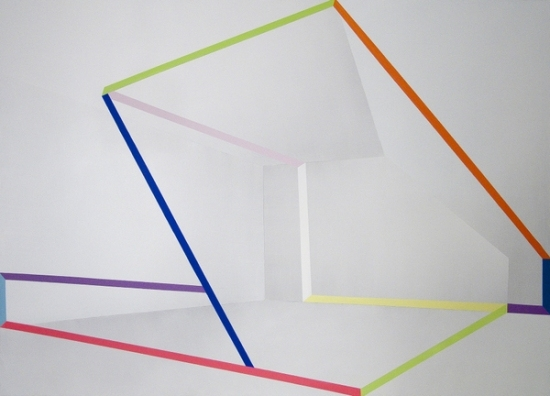 Ira Svobodova - The Secret of White Space, 2012, photo courtesy of CES Gallery, abstract art, abstract painting