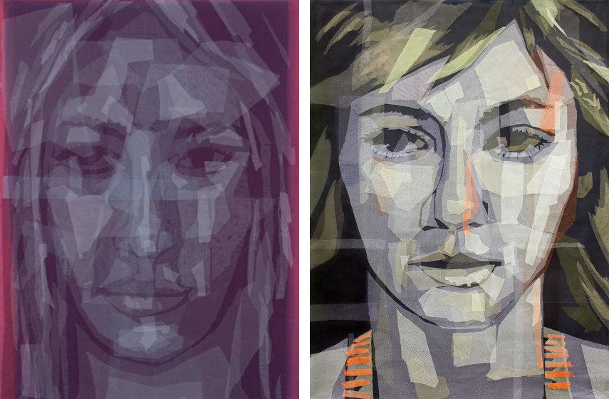 Irfan Onurmen - Gaze Series #31, 2013 (Left) / Gaze Series #32, 2014 (Right)